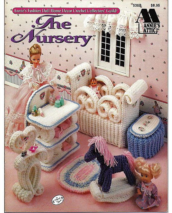 Barbie Furniture, The Nursery , Annies Attic Fashion Doll Crochet Pattern