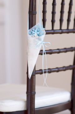 Confetti Cones-make the cone-but add royal blue roses,lavender roses,pink roses, orange tiger lilies, plus 2 tones of ivy-green plus fall colored too-michaels.com.-use for church aisles