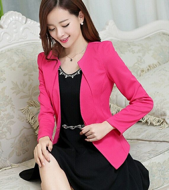 Spring and autumn pink suit women 2017 new womens business suits short slim female outerwear long-sleeve suit women