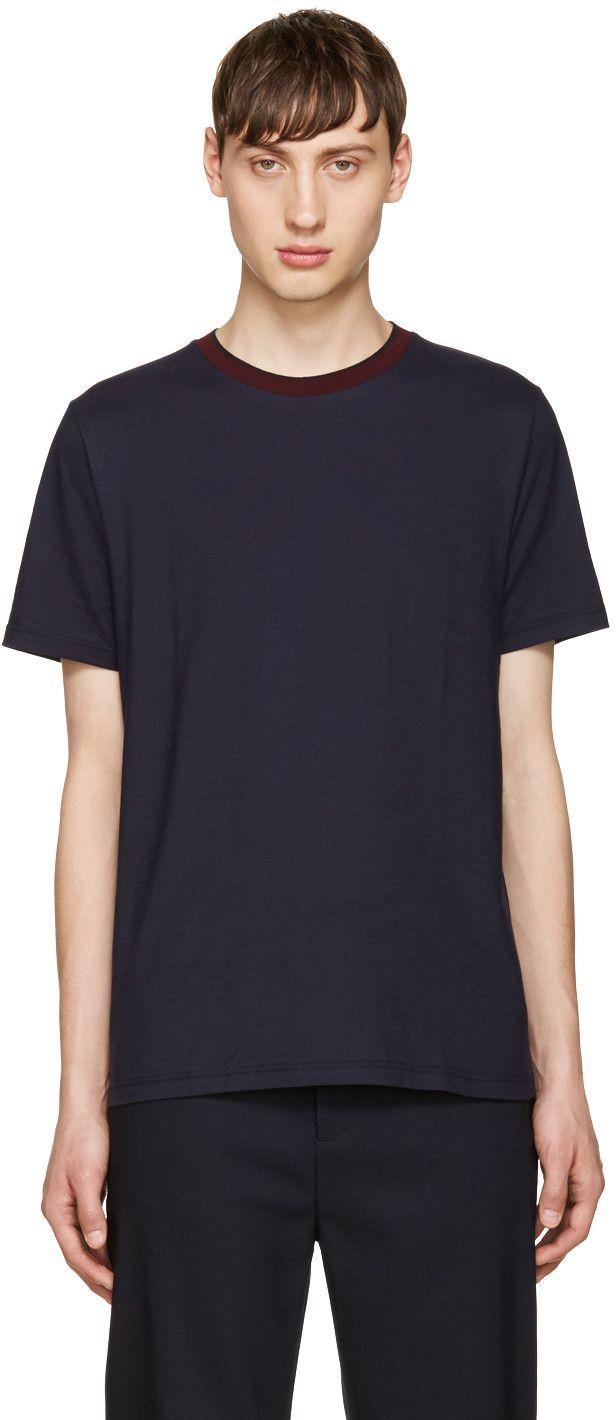 GIULIANO FUJIWARA NAVY JERSEY T-SHIRT. #giulianofujiwara #cloth #t-shirt