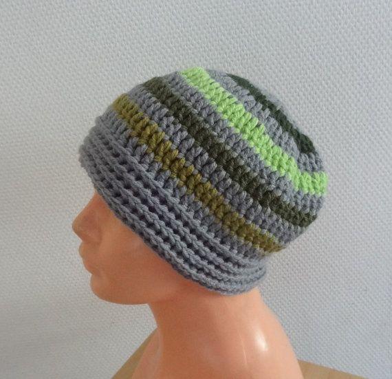 crochet BEANIE Hat mens Beanie Chunky winter Hat crochet by Ifonka