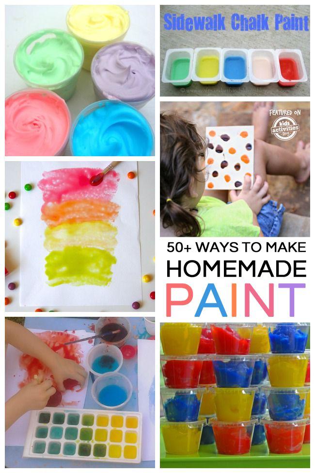 50 Homemade Paint Recipes Kids DiyKids CraftsHomemade