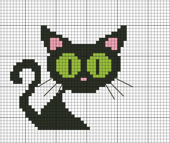 Kitten Knitting Chart : Best images about cat cross stitch on pinterest cats