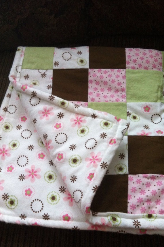 baby girl quilt for sale on etsy