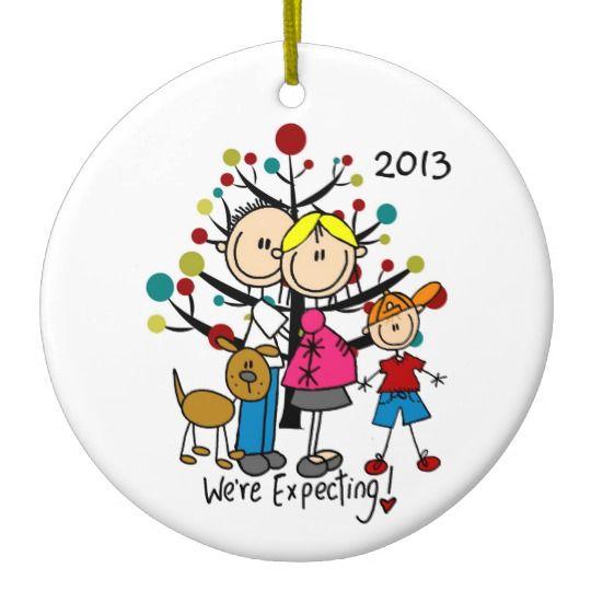 Expectant Parents Christmas Ornaments