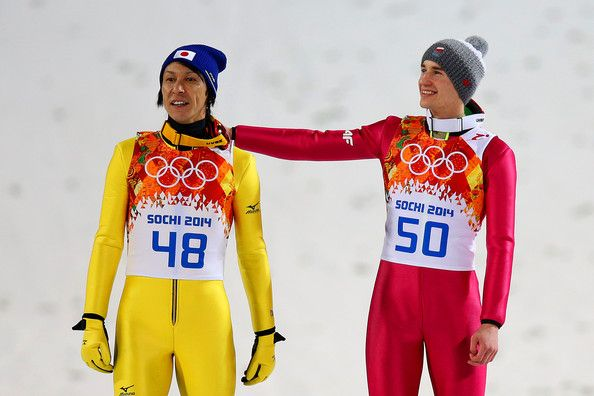 Noriaki Kasai Kamil Stoch- Ski Jumping - Winter Olympics Day 8