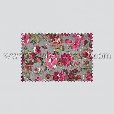 peony woven print fabrics with lovely grounding gray polyester