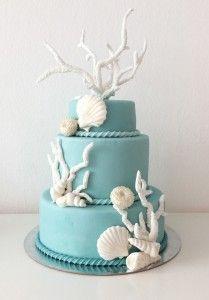Torte Decorate - Muffinworld torta mare torta per matrimonio wedding cake sea cake sea wedding cake