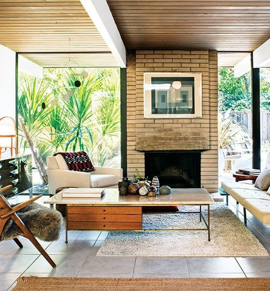 mid-century-modern-home-designs-Entry-Modern-with-California ...