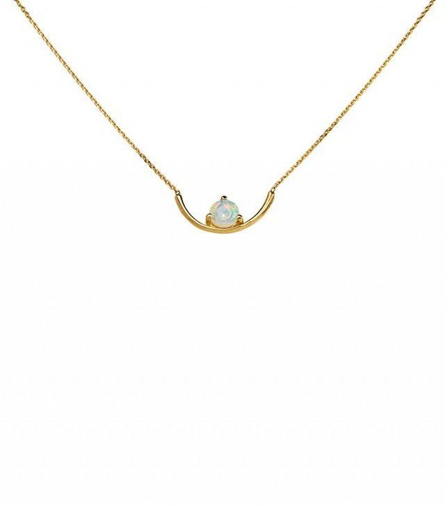 WWAKE Opal Arc Necklace