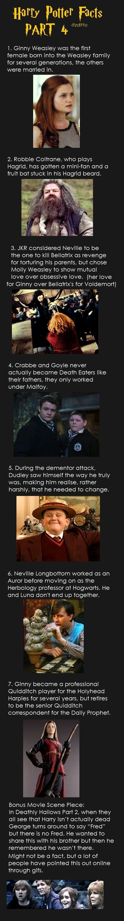 Harry Potter Facts 4 =P