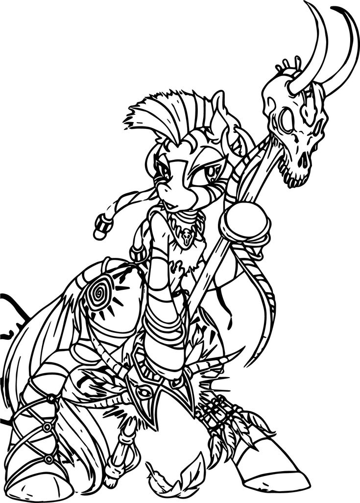 cool Zecora Witch Doctor Color Anime Apothecary Coloring ...