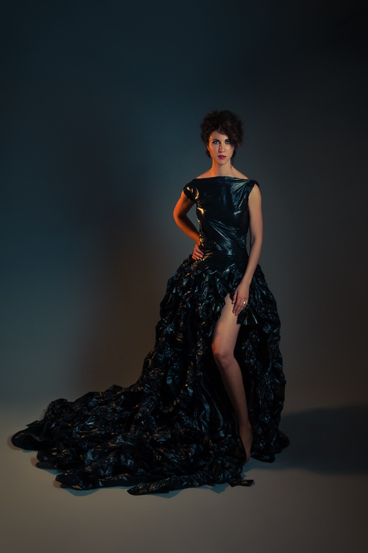 We know there is fashion made from trash, but what about fashion made from what you put trash in? Let us know what you think of this trash bag dress. #MidwestSalute #Art