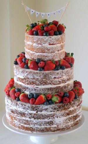 裸のケーキ?海外で人気のウェディングケーキ『NAKED CAKE』(ネイキッド・ケーキ) - NAVER まとめ