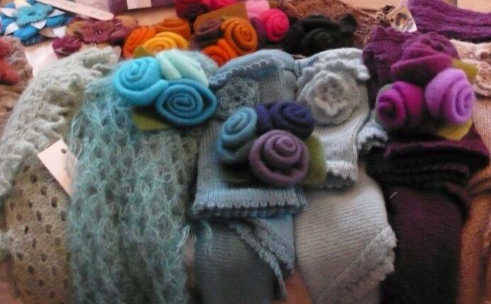 Knitting and felt
