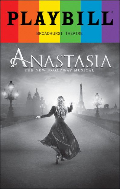 "Based on the 1997 animated film, Anastasia comes to Broadway with a new score from the Tony-winning team behind Ragtime, Once On This Island and Seussical—Ahrens and Flaherty—along with the film's classic songs, including the Oscar-nominated ""Journey to the Past."""