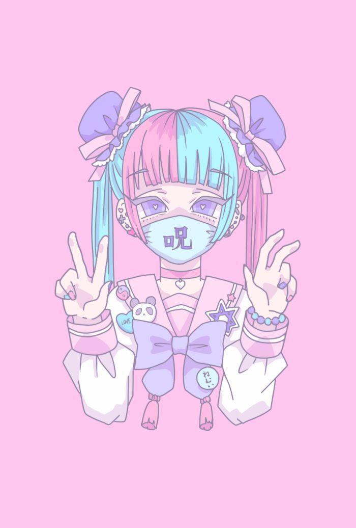 Anime Pastel In 2020 Anime Art Girl Pastel Goth Art Anime Drawings