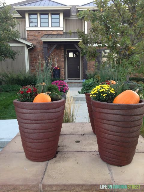 Fall Planters - Life On Virginia Street
