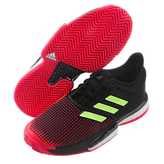 35a1506b4 adidas Sole Court Boost Women s Tennis Shoes Racquet Racket Black NWT  G26297  adidas