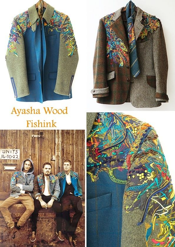 Men's jackets with embroidery / Embroidery /
