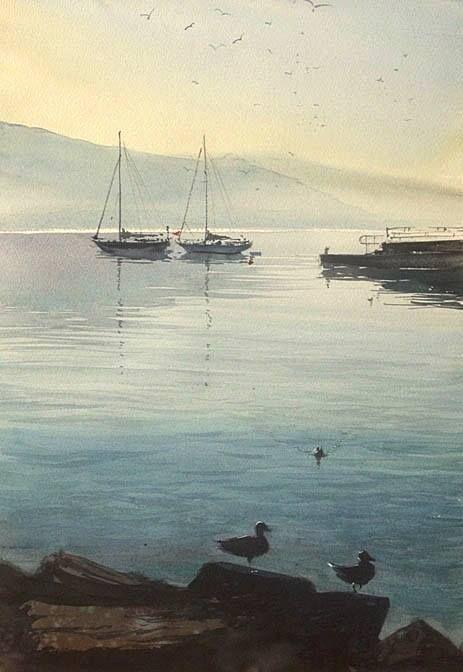 "Kazuo Kasai Gallery - ""In the morning Ⅱ"" at Santa Margherita ligure"