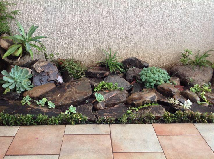 piedras y plantas de sombra buena idea para decorar un espacio pequeo