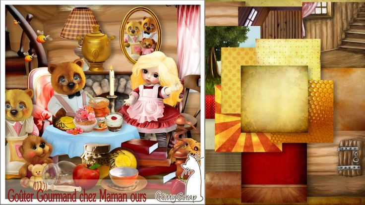 kit gouter gourmand chez maman ours by KittyScrap