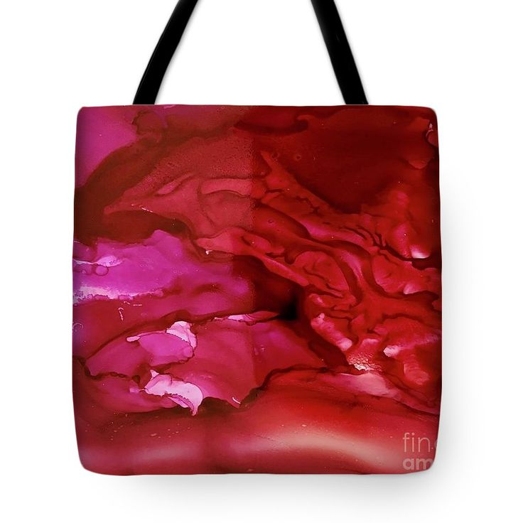 """Abstract Art Tote Bag featuring the painting """"Berry Juice"""" by #LynnTolson #FineArtAmerica to buy click image #FashionToteBags #CanvasToteBags #Handbags #BeachBags #BeachTote #DesignerToteBags #DesignerPurses #LadiesFashion #WomensAccessories #BeachBag #LadiesPurse #CanvasBag #LadiesBags #RedToteBag #RedPurse"""