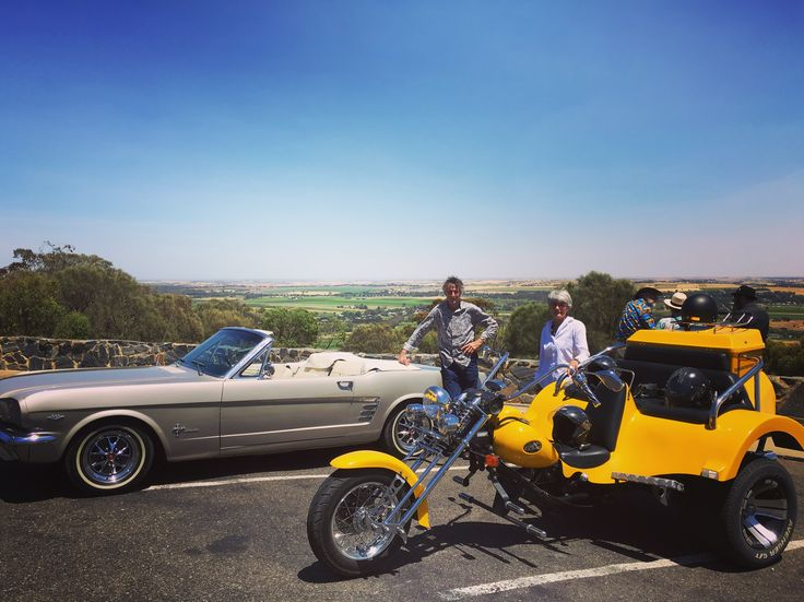 A trike & Mustang combo, swap vehicles and see the Barossa from the best of both worlds.