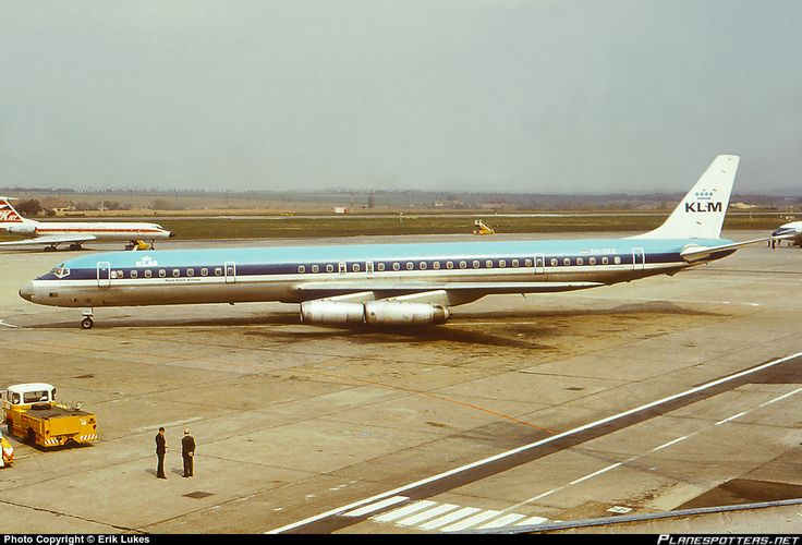 Douglas DC-8-63 in Prague, 1970