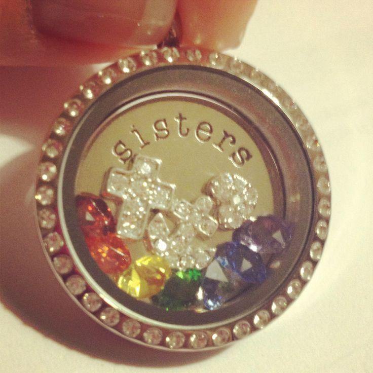 Rainbow inspired locket. Purchase the locket, plate, and charms individually and assemble!