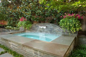 Love This Backyard Spa Might Work As A Little Plunge Pool