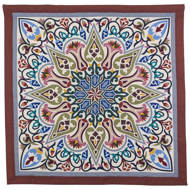 """American Quilter's Society - Egyptian Applique Art #715-Ramy Hashem shop. Size 50"""" square."""