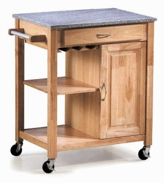 Minibar 01 Mini Kitchen Cart Nature Finish Malaysian