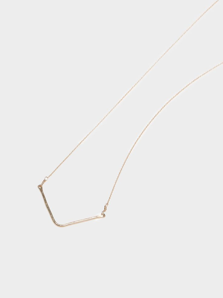 Hammered Chevron Necklace   FASHIONABLE