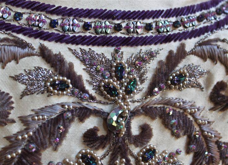 КАСТИЛЬО - Жанна Ланвин кутюр платье с Лесаж вышивки и бисероплетения изображение 3