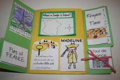 Reviewing skills with a lapbook! Here's an example for Madeline.
