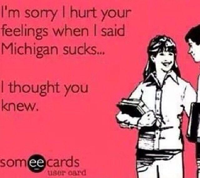 True Michigan State or Ohio State Fan