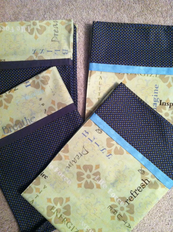 Sewing project - pillow cases.  Used burrito pillow case pattern to make two pair of coordinating pillow cases.