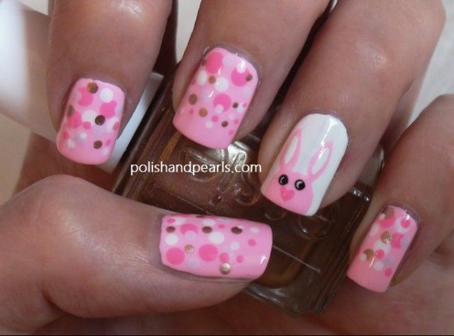 15 Adorable Easter Nail Designs With Bunnies - Fashion Diva Design