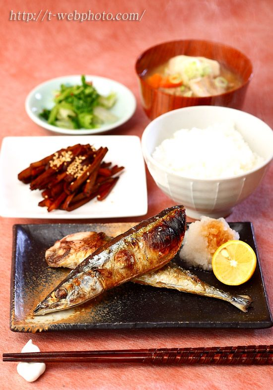 Japanese food / Grilled Sanma サンマ定食