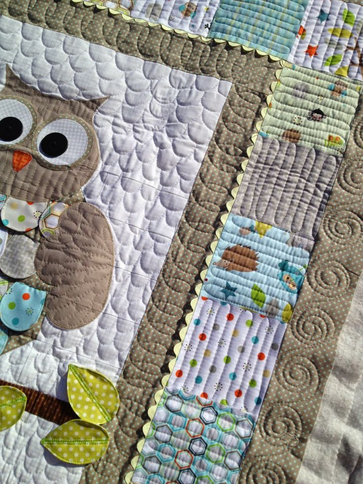 Machine Quilting l Lovely Threads l Molly Kohler l Scallop background quilting; border quilting; owl quilt