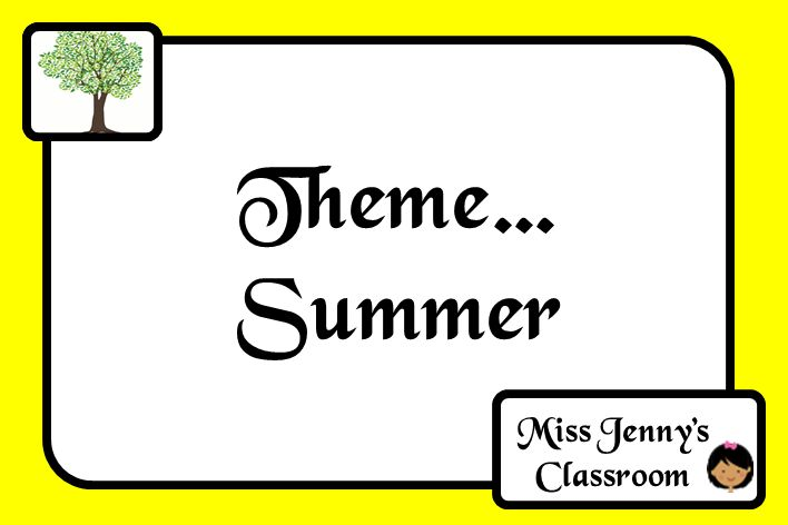 Summer Theme. Board Cover. Full of ideas and activities. Miss Jenny's Classroom.