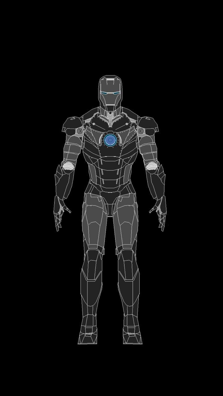Amoled Mark Ii Iron Man Wallpaper For Android Iphone By Studio929 Wallpaper Ponsel