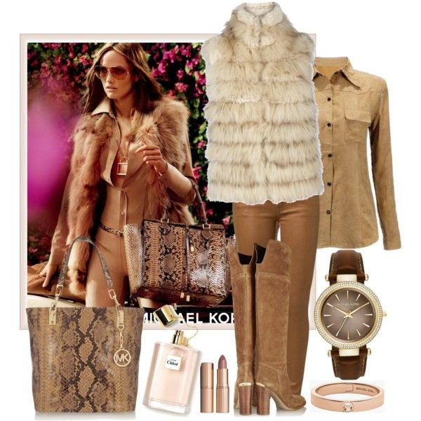 I Love Michael Kors by milkalilien on Polyvore featuring Alice + Olivia, 7 For All Mankind, MICHAEL Michael Kors and Charlotte Tilbury