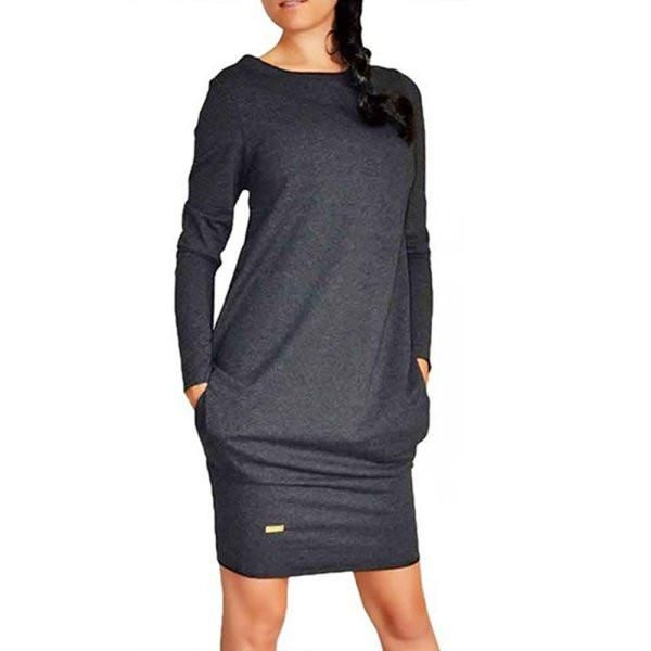 Warm Long Sleeve Bodycon Dress Sweatshirt Mini Jumper Dresses