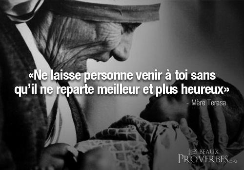 Mère Teresa Citation