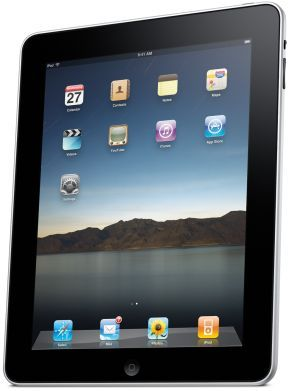 1st Generation Apple iPad Tablet, Front Angle View