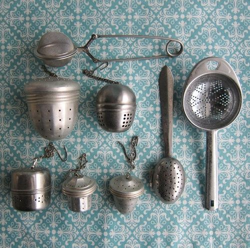 Bohemian Homes: Vintage tea infusers                                                                                                                                                                                 More