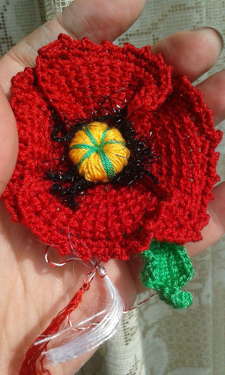 Martisor; tunisian crochet